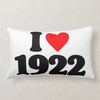 I LOVE 1922 PILLOWS