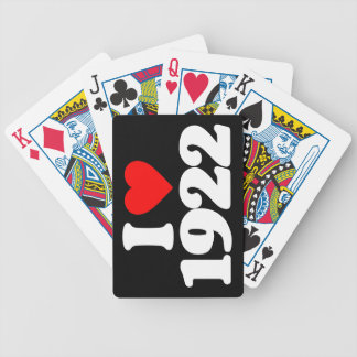 I LOVE 1922 PLAYING CARDS