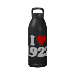 I LOVE 1922 REUSABLE WATER BOTTLE