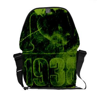 I love 1938 - Green Pixel vintage - Messenger Bags