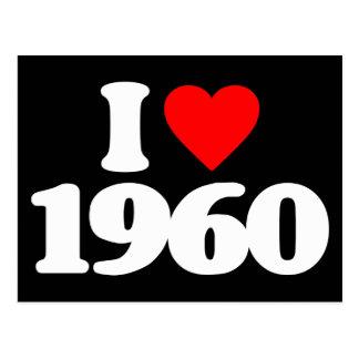I LOVE 1960 POSTCARD