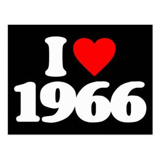 I LOVE 1966 POSTCARD