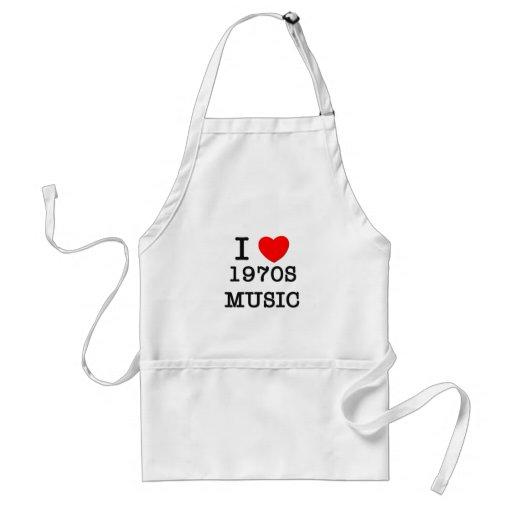 I Love 1970s Music Aprons