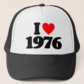 I LOVE 1976 TRUCKER HAT
