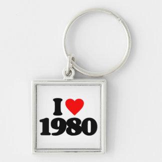 I LOVE 1980 KEY CHAINS