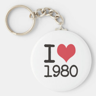 I Love 1980 Products & Designs! Key Chain