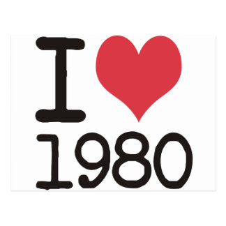 I Love 1980 Products & Designs! Postcard