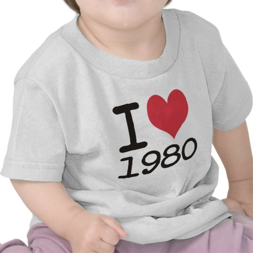 I Love 1980 Products & Designs! Tee Shirt
