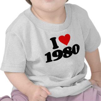 I LOVE 1980 T-SHIRTS