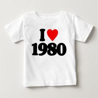 I LOVE 1980 TEE SHIRTS