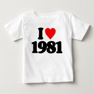I LOVE 1981 T SHIRT