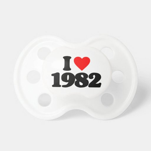 I LOVE 1982 BABY PACIFIER