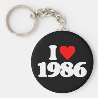 I LOVE 1986 KEY CHAINS