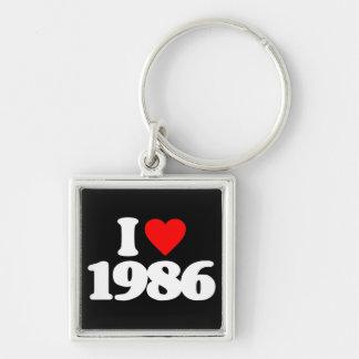 I LOVE 1986 KEYCHAIN