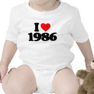I LOVE 1986 BODYSUIT