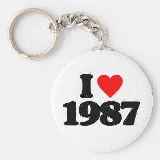 I LOVE 1987 KEYCHAIN