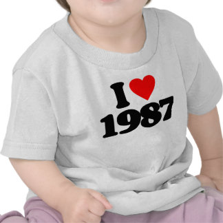 I LOVE 1987 T SHIRTS