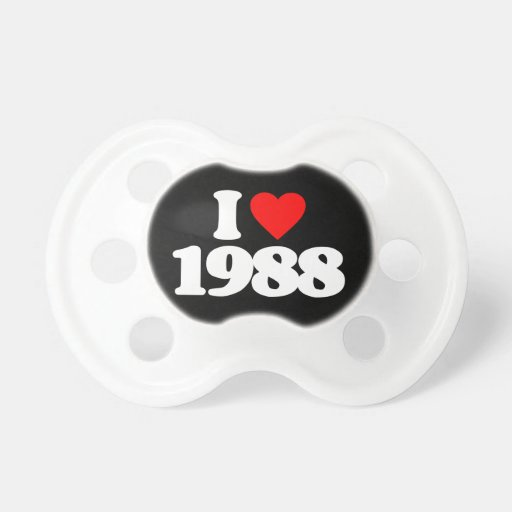 I LOVE 1988 BABY PACIFIERS