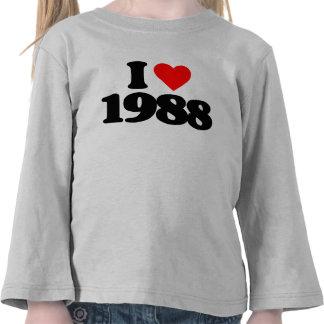I LOVE 1988 TSHIRTS