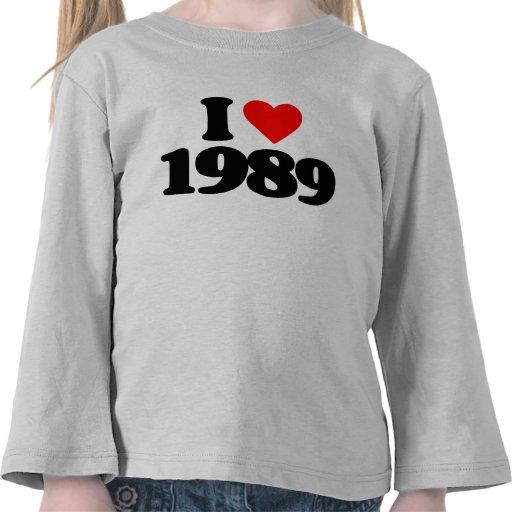 I LOVE 1989 TEE SHIRTS