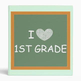 I Love 1st Grade 3 Ring Binders