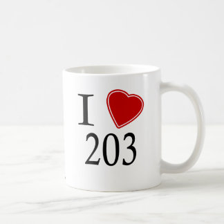 I Love 203 Bridgeport Coffee Mug