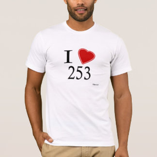 I Love 253 Tacoma T-Shirt