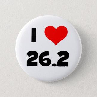 I Love 26.2 2 Inch Round Button
