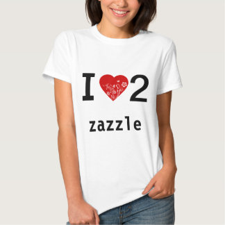 I love 2 zazzle on front, cool tattoo design back shirts