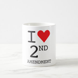 I Love 2nd Amendment Classic White Mug