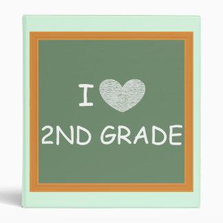 I Love 2nd Grade 3 Ring Binder