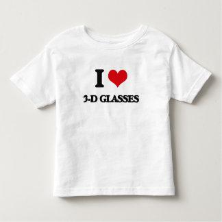I love 3-D Glasses T Shirts