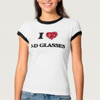 I love 3-D Glasses Tshirt
