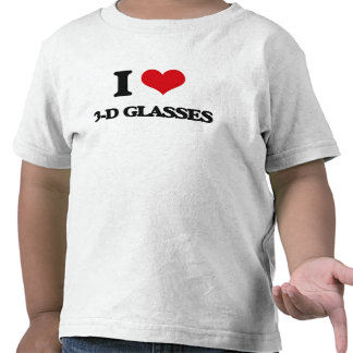 I love 3-D Glasses Tee Shirts