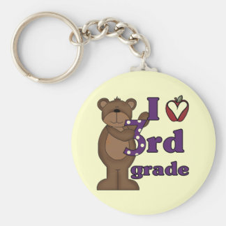 I Love 3rd Grade Tshirts and Gifts Keychain