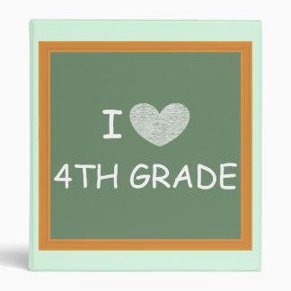 I Love 4th Grade Vinyl Binder