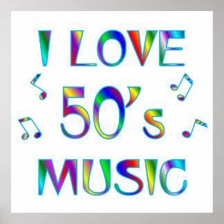 I Love 50's Music Print