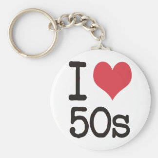 I Love 50s Products & Designs! Keychain