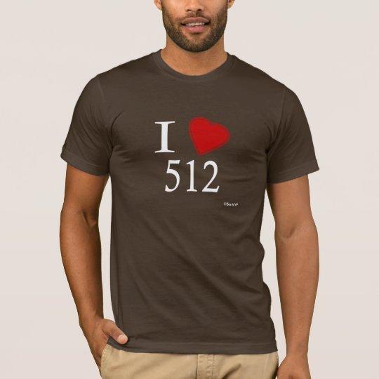 I Love 512 Austin T-Shirt