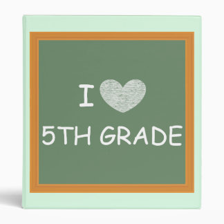 I Love 5th Grade Binders