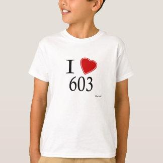 I Love 603 Manchester T-Shirt