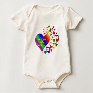 I Love 60s Music Baby Bodysuit