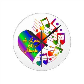 I Love 60s Music Round Clock