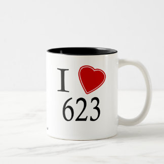 I Love 623 Phoenix Two-Tone Coffee Mug