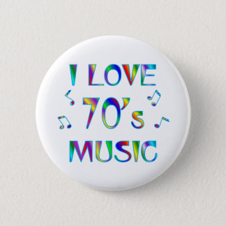 I Love 70's 2 Inch Round Button