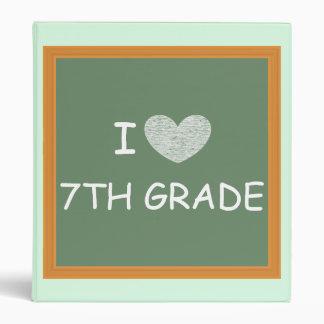 I Love 7th Grade 3 Ring Binders