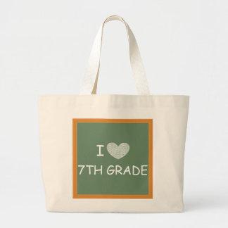 I Love 7th Grade Jumbo Tote Bag
