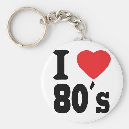 I Love 80 ´s Keychain