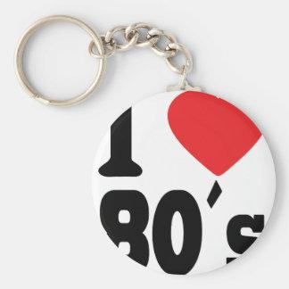 I Love 80 ´s Key Chains