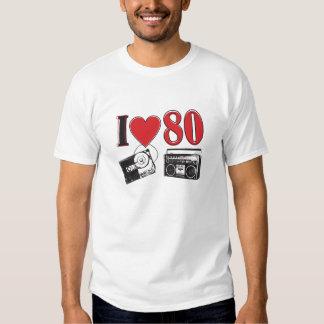 I love 80 t-shirts